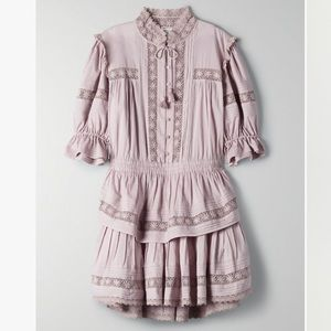 NWT Sunday Best Peace Dress in hazy lilac XXS